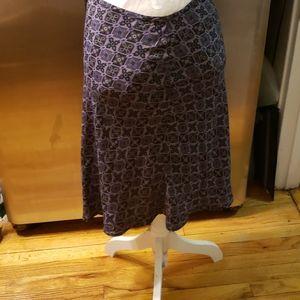 Old Navy Collection  Multi Purple Skirt SZ 18